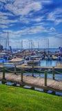 Puerto deportivo en Davidson, NC en el normando del lago Fotografía de archivo