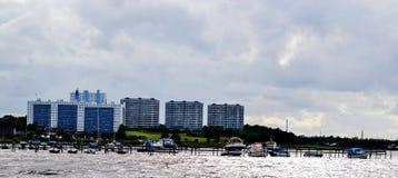 Puerto deportivo en Dinamarca Fotografía de archivo