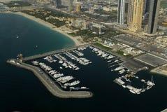 Puerto deportivo en Dubai fotografía de archivo