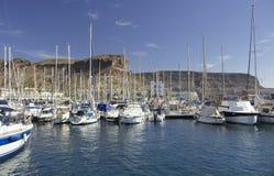 Puerto deportivo en el ¡n, Gran Canaria de Puerto de Mogà Foto de archivo