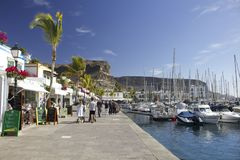 Puerto deportivo en el ¡n, Gran Canaria de Puerto de Mogà Fotos de archivo