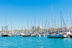 Puerto deportivo en el acceso Vell el 14 de septiembre de 2012, 2009 en Barcelona. Foto de archivo libre de regalías