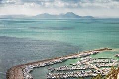 Puerto deportivo en el mediterráneo Imagen de archivo