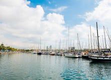 Puerto deportivo en el puerto Vell el 21 de septiembre de 2012, en Barcelona. Más t Imagen de archivo libre de regalías