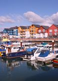 Puerto deportivo en Exmouth imagen de archivo libre de regalías