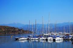 Puerto deportivo en Fethiye Fotos de archivo