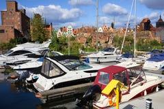 Puerto deportivo en Gdansk Fotografía de archivo