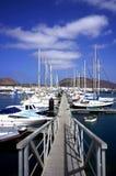 Puerto deportivo en la isla de Graciosa Fotos de archivo