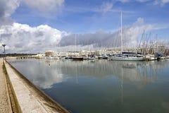 Puerto deportivo en las nubes Fotografía de archivo