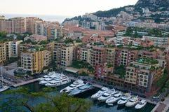 Puerto deportivo en Mónaco Imagen de archivo libre de regalías