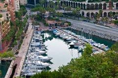 Puerto deportivo en Mónaco Imagenes de archivo
