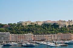 Puerto deportivo en Mónaco Foto de archivo libre de regalías