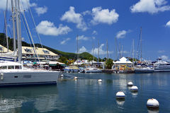Puerto deportivo en Marigot, francés San Martín Fotos de archivo