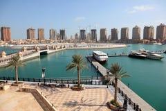 Puerto deportivo en Oporto Arabia. Doha Imagen de archivo libre de regalías
