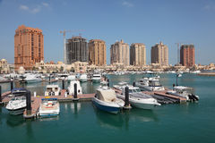Puerto deportivo en Oporto Arabia. Doha Imagen de archivo