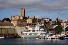 Puerto deportivo en Penzance, Reino Unido Fotos de archivo libres de regalías