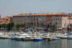 Puerto deportivo en Santo-Raphael, Francia Fotografía de archivo libre de regalías