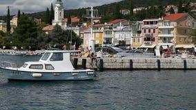 Puerto deportivo en Selce Imagen de archivo libre de regalías