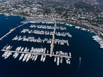 Puerto deportivo en Yalikavak Bodrum fotos de archivo libres de regalías