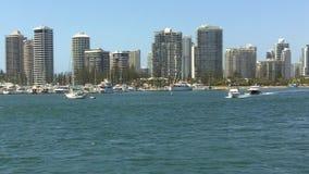 Puerto deportivo Gold Coast Australia de Southport almacen de video