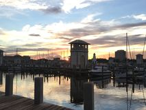 Puerto deportivo hermoso en Gulfport Mississippi Foto de archivo