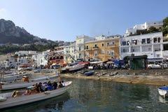 Puerto deportivo Italia de Capri fotografía de archivo