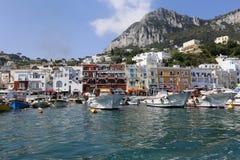 Puerto deportivo Italia de Capri imagen de archivo libre de regalías