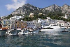 Puerto deportivo Italia de Capri foto de archivo