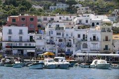 Puerto deportivo Italia de Capri imágenes de archivo libres de regalías