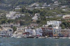 Puerto deportivo Italia de Capri foto de archivo libre de regalías