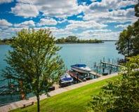 Puerto deportivo local de Detroit Foto de archivo
