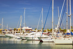 Puerto deportivo Marina Salinas. Yachts and boats in Marina of T Stock Image