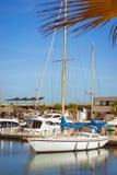 Puerto deportivo Marina Salinas. Yachts and boats in Marina Royalty Free Stock Photos