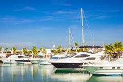 Puerto deportivo Marina Salinas. Yachts and boats in Marina Stock Image