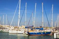 Puerto deportivo Marina Salinas. Yachts and boats in Marina of T Royalty Free Stock Image
