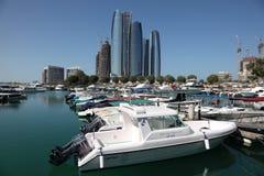 Puerto deportivo n Abu Dhabi Foto de archivo libre de regalías