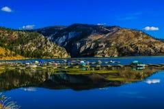 Puerto deportivo, puertas de las montañas, Montana, Estados Unidos Fotos de archivo