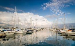 Puerto deportivo San Antonio del yate Foto de archivo