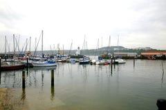 Puerto deportivo, Scarborough, North Yorkshire. fotos de archivo libres de regalías
