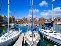 Puerto deportivo soberano del puerto, Eastbourne foto de archivo