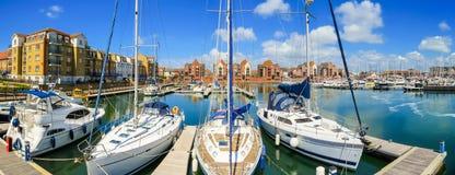 Puerto deportivo soberano del puerto, Eastbourne, Sussex del este, Inglaterra fotografía de archivo libre de regalías