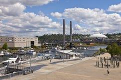 Puerto deportivo Tacoma Washington de la calle del muelle imagenes de archivo