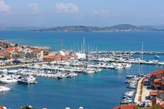 Puerto deportivo Tribunj Foto de archivo libre de regalías