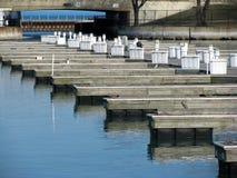 Puerto deportivo vacío imagen de archivo