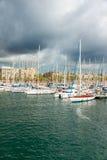 Puerto deportivo Vell portuario en Barcelona Fotos de archivo