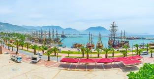 Puerto deportivo viejo de Alanya Foto de archivo libre de regalías