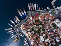 Puerto deportivo y castillo de Marmaris en Turquía Fotos de archivo libres de regalías