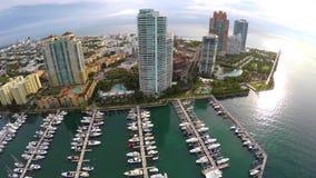 Puerto deportivo y club náutico de Miami Beach almacen de video