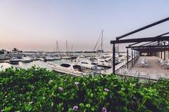 Puerto deportivo y club náutico de Ras Al Khaimah imagen de archivo