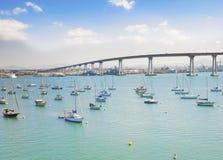 Puerto deportivo y puente de Coronado, San Diego foto de archivo libre de regalías